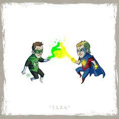 LITTLE FRIENDS - Green Lantern & Quasar