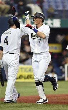 4月13日 Bs-Fs きたー! 糸井ホームラン!!! ---Miki  オリ、やっと出た!糸井がチーム第1号の逆転本塁打