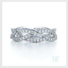 Alliance diamant bague diamant 2,5 carats or blanc 3 rangs. Santa Barbara