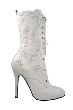 Ralph Lauren white boot.  I think I had a pair of these in 7th grade....