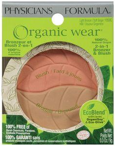 Physicians Formula Organic Wear Bronzer & Blush - Light Bronzer/Soft Ginger (1058C) $21.96 - from Well.ca