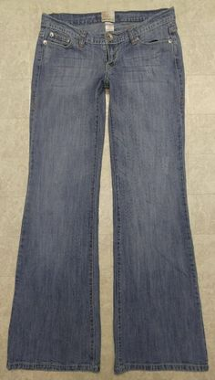 $7.95 + $5.95 Shipping!  Arden B. 27 Jeans Stretch Distressed Faded Medium Blue Boot Cut 30x32.5 #ArdenB #BootCut