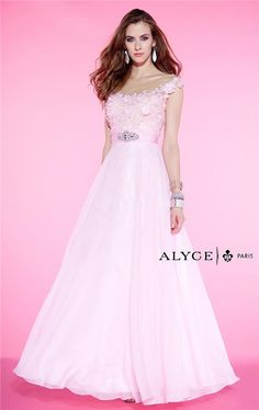 Alyce Paris 6397 Long Pink Lace Prom Evening Gowns 2015