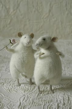 Felted Rats... So cute!
