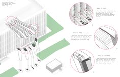Axonometric Drawing. Canopy for Hunt Library #48125 #IDM