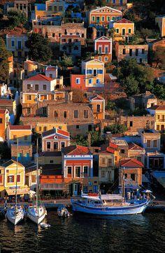 simi - greece dodenanisa simi island.the port