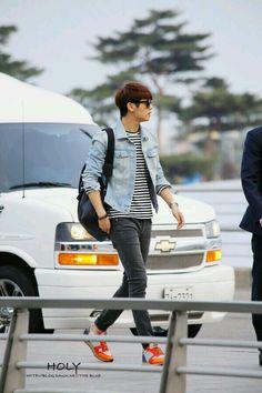 Kang Min Hyuk 140411仁川机场 - LA