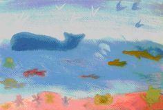 Waldorf ~ 3rd grade ~ Old Testament ~ Creation Story ~ Sea and Air Life ~ watercolor painting