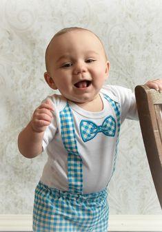 Baby Boy Clothes Bow Tie & Suspenders