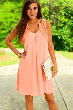 The Fly Away Crochet Dress , Pink $39.50
