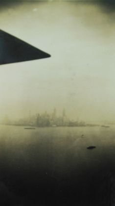 Unknown Photographer, Untitled (View of skyline, airplane wing tip), 1935