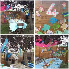 Anniversaire Sirène pour les 4 ans d'Anya - Diy, Ariel The Little Mermaid, Birthday, Bricolage, Do It Yourself, Homemade, Diys, Crafting