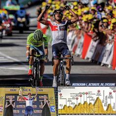 """Jarlinson Pantano (IAM) wins the 15th stage of the Tour de France just before Rafal Majka (Tinkoff), 6"""" before Alexis Vuillermoz (AG2R) and Sebastian Reichenbach (FDJ) and 22"""" before Julian Alaphilippe (Etixx). Christopher Froome (Sky) is still the yellow jersey. #cycling  ___________________________  Jarlinson Pantano (IAM) gana la 15ª etapa del Tour de France. #ciclismo  __________________________  Jarlinson Pantano (IAM) vince la 15º tappa del Tour de France. #ciclismo…"""