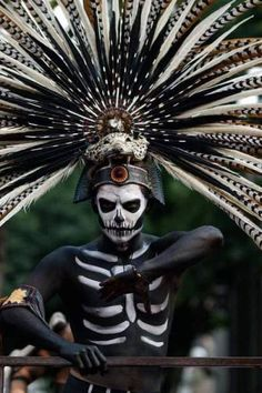 Dia de Muertos parade at Mexico City Mexican Art, Mexican Style, Art Du Monde, Aztec Culture, Coban, Aztec Warrior, Day Of The Dead Art, Aztec Art, Hispanic Heritage