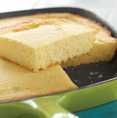 Bake Skillet Cornbread in your favorite cast iron skillet and serve it warm right from the skillet. It's a little bit sweet, but don't let that stop you from serving it with a little bit of honey.