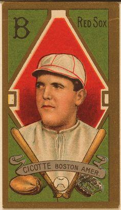 Edward V. Cicotte, Boston Red Sox, baseball card portrait - 1911