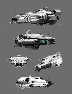 "phattro: ""Ship design sketches. """