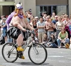 Haha..... She was actually in the parade in Sweden