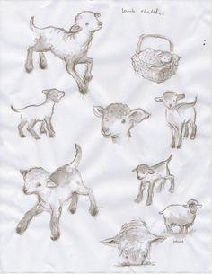 the black lamb. Lamb Drawing, Sheep Drawing, Animal Sketches, Animal Drawings, Art Drawings, Lamm Tattoo, Sheep Tattoo, Cute Lamb, Sheep Art
