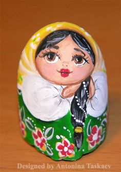Matryoshka/Babushka - rock painting by lovebiser