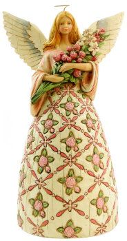 Jim Shore angel with prayer all things are possible Jim Shore Christmas, Christmas Angels, Christmas Vases, Angel Decor, I Believe In Angels, Angel Statues, Angels Among Us, Thomas Kinkade, Angels In Heaven