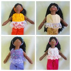 African American Dress Up Dolls  Handmade Toys by JoellesDolls, $25.00