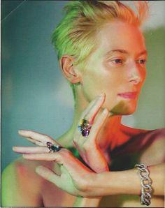 Tilda Swinton by Jean-Baptise Mondino for Harper's Bazaar, March 2014