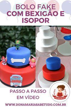 Happy Birthday B, Birthday Parties, Bolo Fack, Fake Cake, Torte Cake, Paw Patrol Party, Diy Candles, Cake Art, Dyi