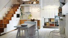 Piccoli spazi, scale e cucina