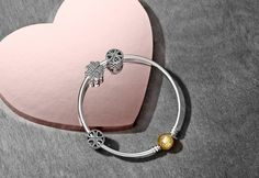 Iubirea pluteste in aer cu noua colectie de Valentine's Day de la Pandora - Claudia | Blogul Despre... Pandora Jewelry, Valentines Day, Jewelry Design, Charmed, Bracelets, Silver, Black, Design Ideas, Nature