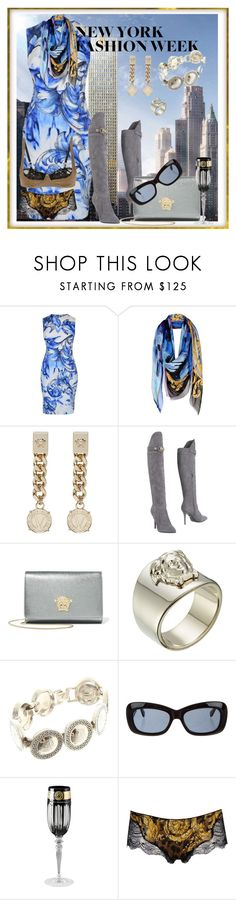 """N.Y Fashion Week"" by wat2wear-849 ❤ liked on Polyvore featuring Versace"