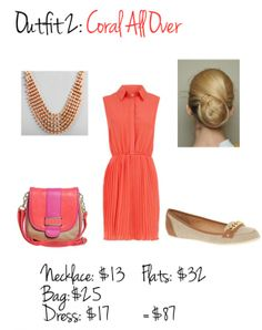 Pop of Coral. Business Casual Fashion