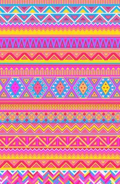 Aztec Pattern Pink 2013 Art Print