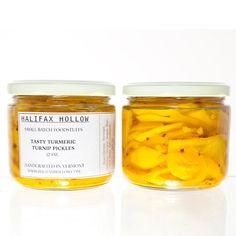 Tasty Turmeric Turnip Pickles - 12 oz jar - Vegan and Gluten Free