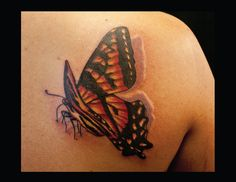 butterfly back tattoo | EntertainmentMesh