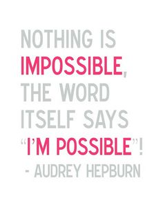 Fidgety Fingers: INSPIRATION FROM AUDREY HEPBURN : I'MPOSSIBLE