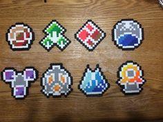 perler pokemon badge sinnoh | Pokemon Sinnoh Badges Perler Creations