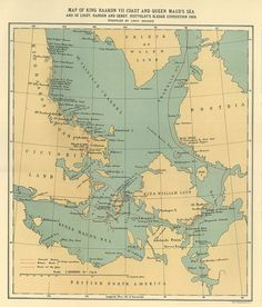 King Haakon VII Sledge Expedition 1905 #map #canada #arctic