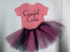 Baby Girls Cowgirl Cutie tutu Outfit  Tutu with by Beautiful6, $30.00