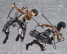 Eren and Mikasa dolls (ohhhh I want a little Levi!)