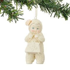 Snowbabies Never Enough Purses Ornament. #Snowbabies #Statue #Sculpture #Decor #Gift #gosstudio . ★ We recommend Gift Shop: http://www.zazzle.com/vintagestylestudio ★