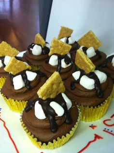 Jimmy Anderson's Casual Gourmet's S'more cupcake