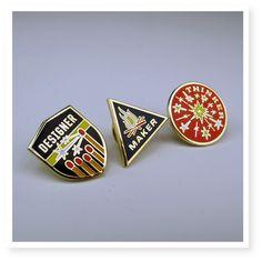 Designer/Maker/Thinker pins from Skinny Vinny. What a fabulous little gift.
