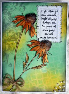 Tim Holtz Flower Garden stamps