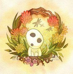 Princess Mononoke Kodama Forest Spirit Print by storyofthedoor