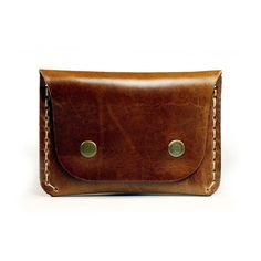 Handmade Leather Wallet Slim Flap wallet for credit by AtelierPall, $34.99
