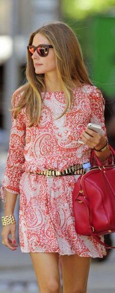 Itgirls***Olivia Palermo Usar un cinturon puede cambiar no solo como te queda sino q añade estilo a tu look
