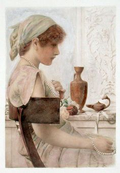 ART BLOG: Henry Ryland : Girl with Pearls