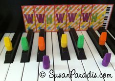 More piano student ideas--I love finding other people's games and tweaking them for my own students!