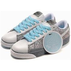 big sale 0fac1 f2b78 Women Nike Blazer Low Shoes Grey Blue